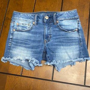 American Eagle midi Jean shorts size 2